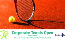CORPORATE TENNIS OPEN 11-12 IUNIE şi 18-19 IUNIE 2016