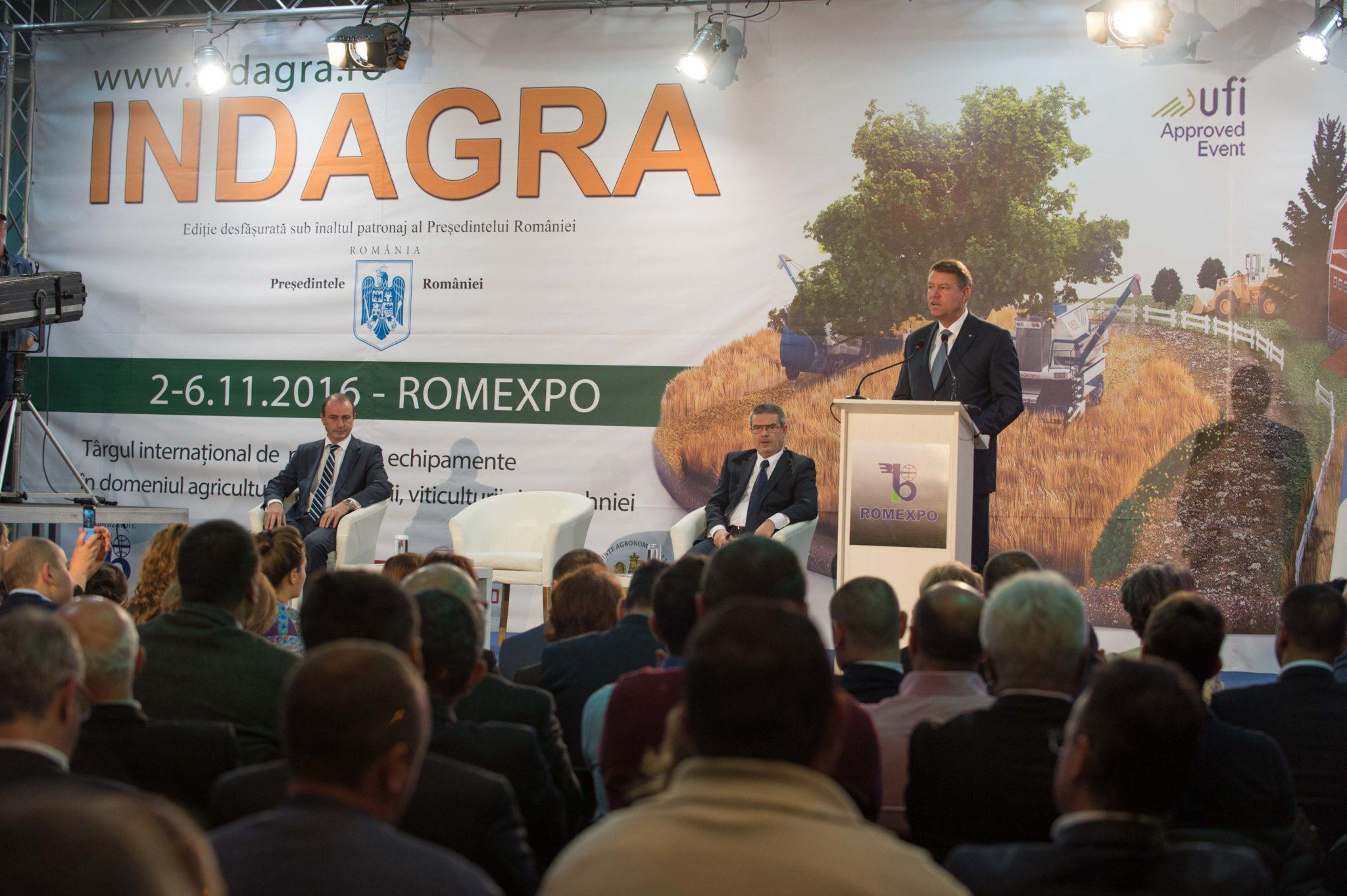 Eveniment INDAGRA 2016 Romexpo
