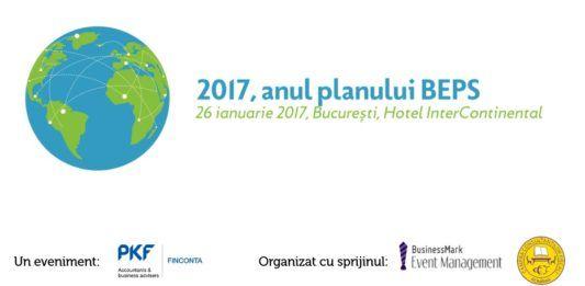 """PKF Finconta și BusinessMark Event Management, anunță organizarea conferinței """"2017, anul planului BEPS""""."""