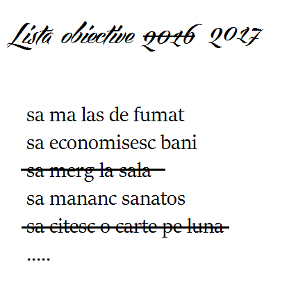 Lista obiective 2017