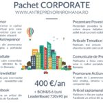 Pachet CORPORATE promovare firme, companii, startups