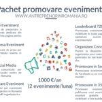 Pachet promovare evenimente, workshop-uri, seminarii, webinarii, lansari de carte