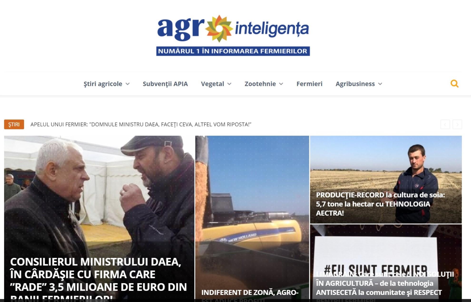 Agrointeligența - Știri din agricultură