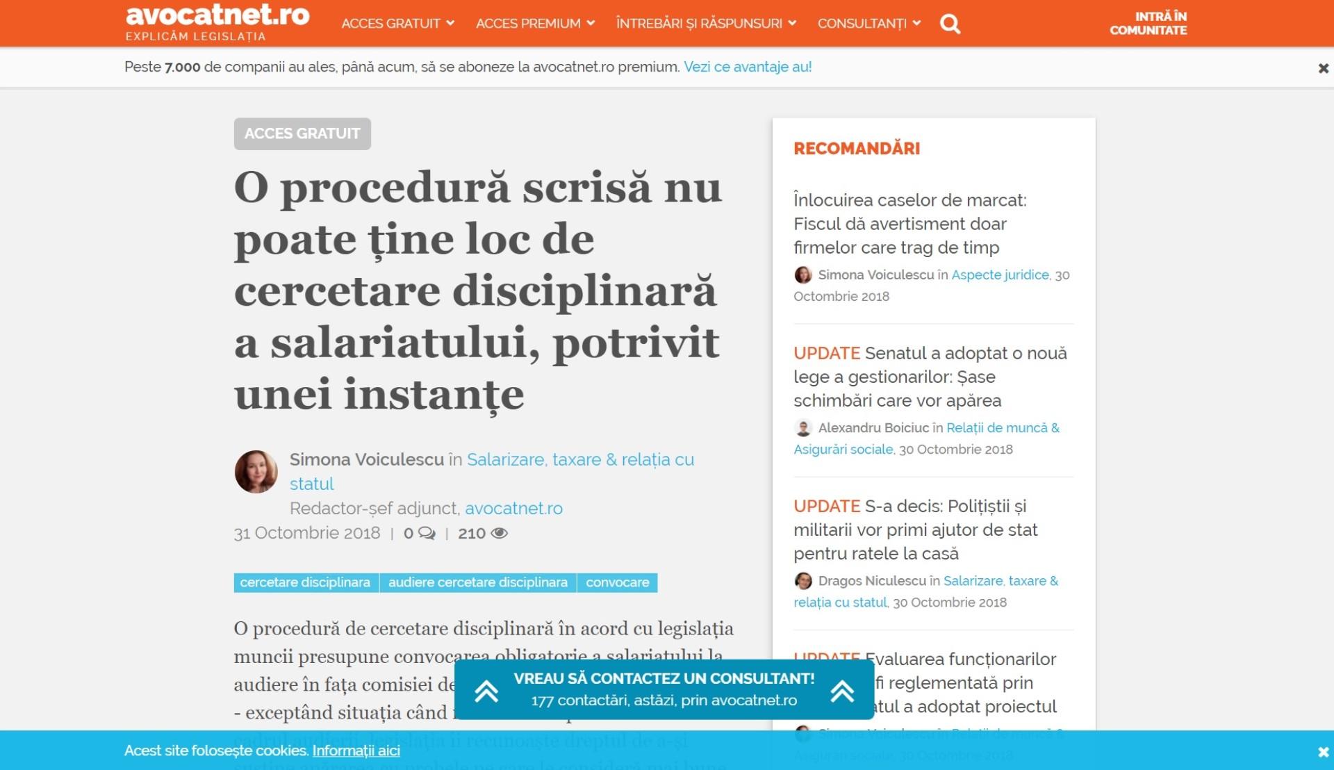Avocatnet.ro, explicăm legislația, lunar, pentru milioane de români