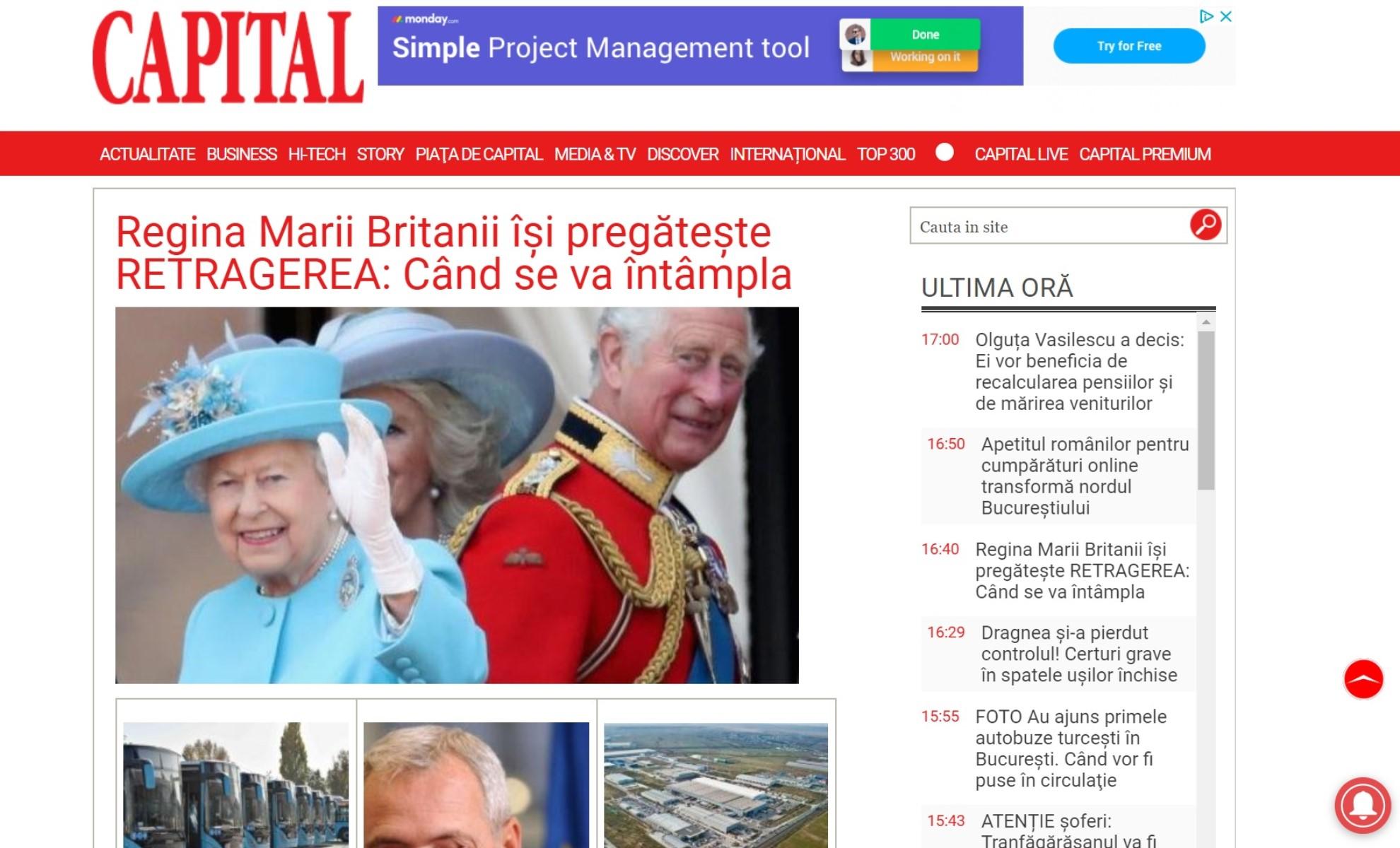 Știri de ultimă oră. ✅ Capital, publicație economică din România cu știri din economie, business, politică și bani. Știri internaționale din ziare, vremea la zi și horoscop.