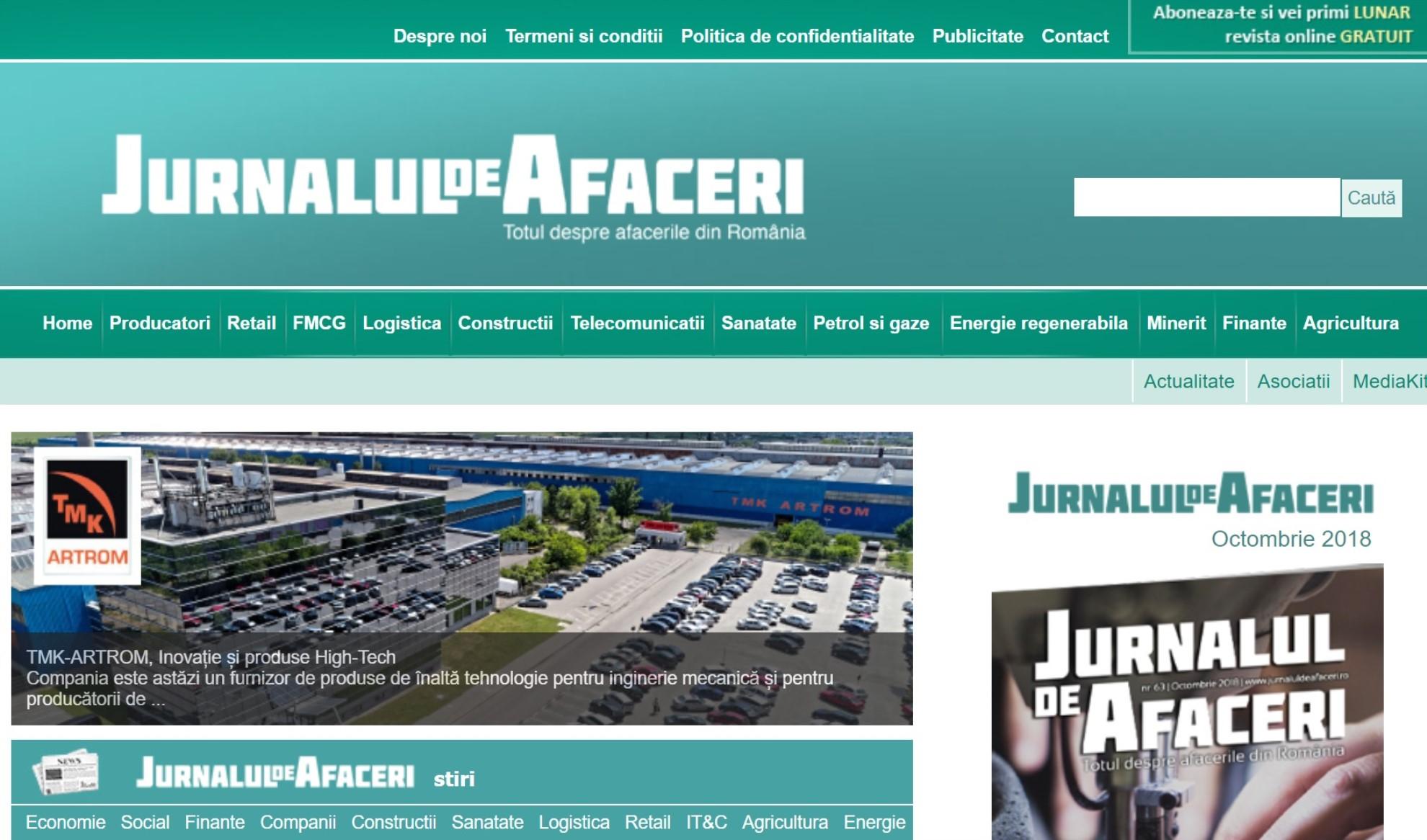 Jurnalul de Afaceri | Totul despre afacerile din Romania