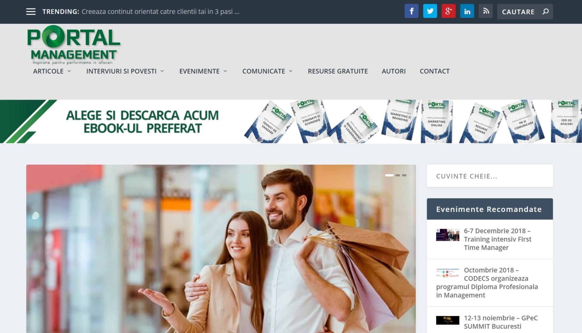 Portal Management - Dezvoltare personala pentru afaceri profitabile
