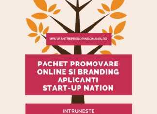 Pachet promovare online si branding Start-UP Nation Romania