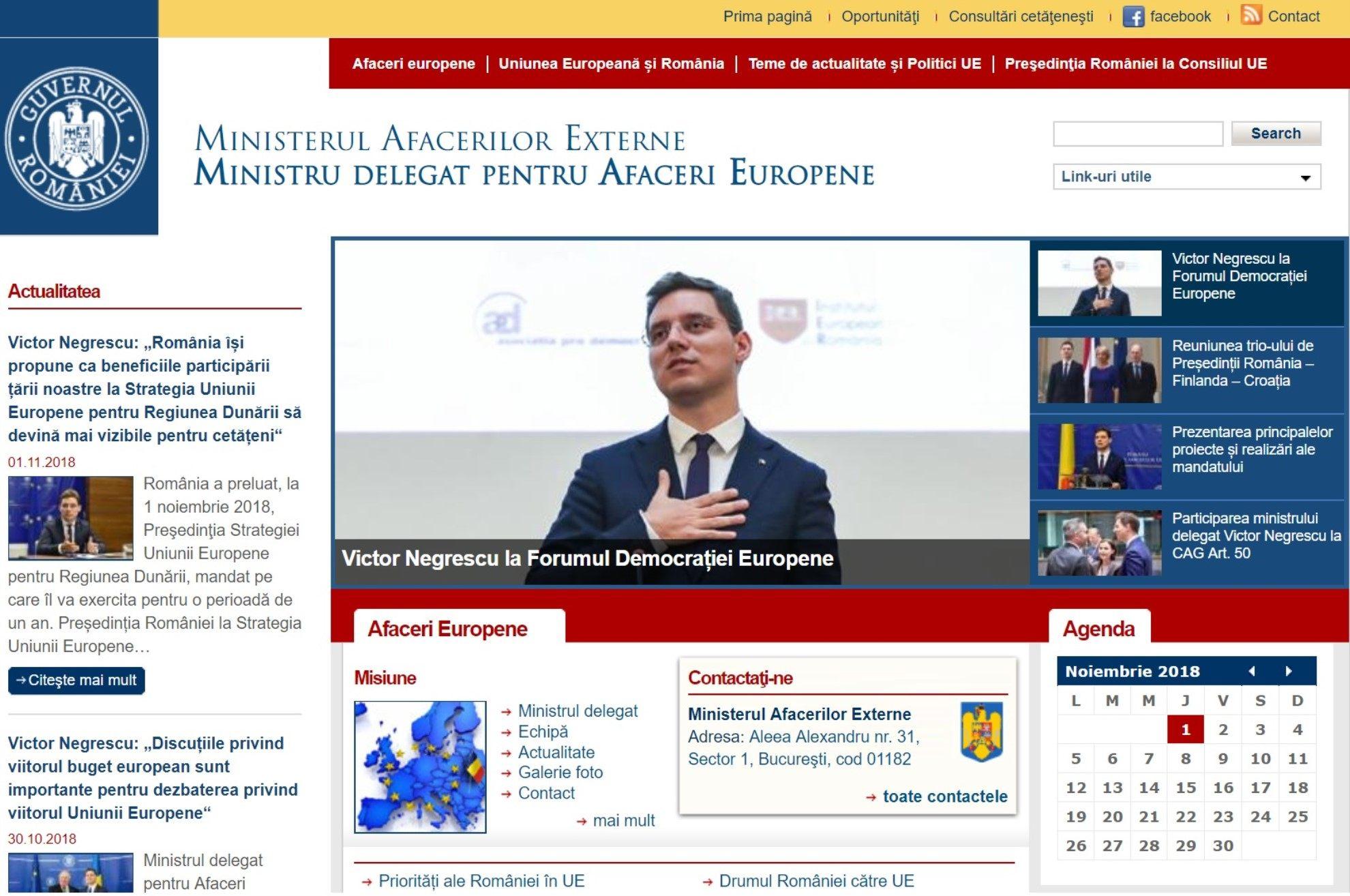 Ministerul Afacerilor Externe Ministru delegat pentru Afaceri Europene