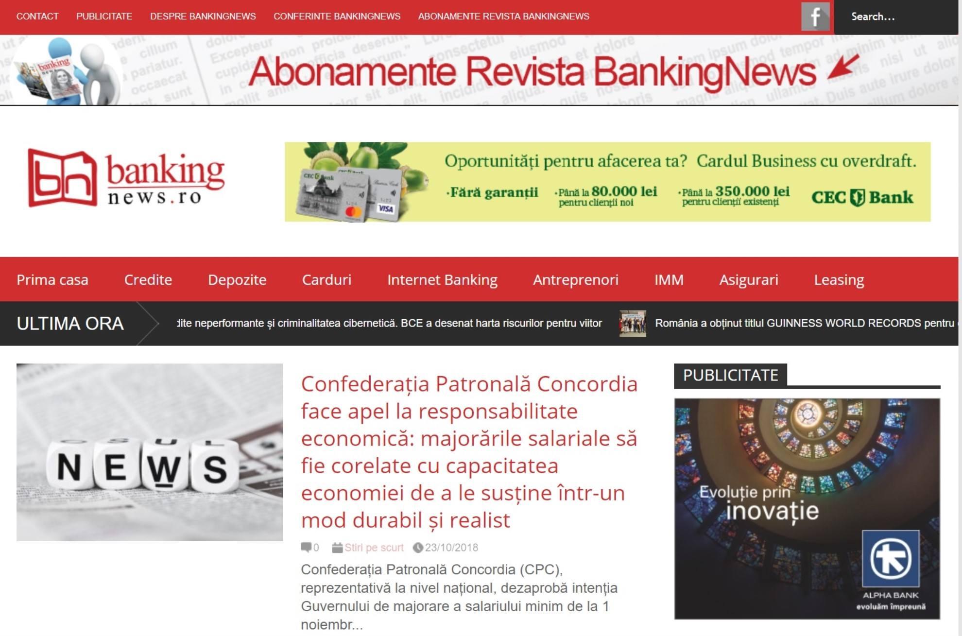 afaceri - Stiri Bancare