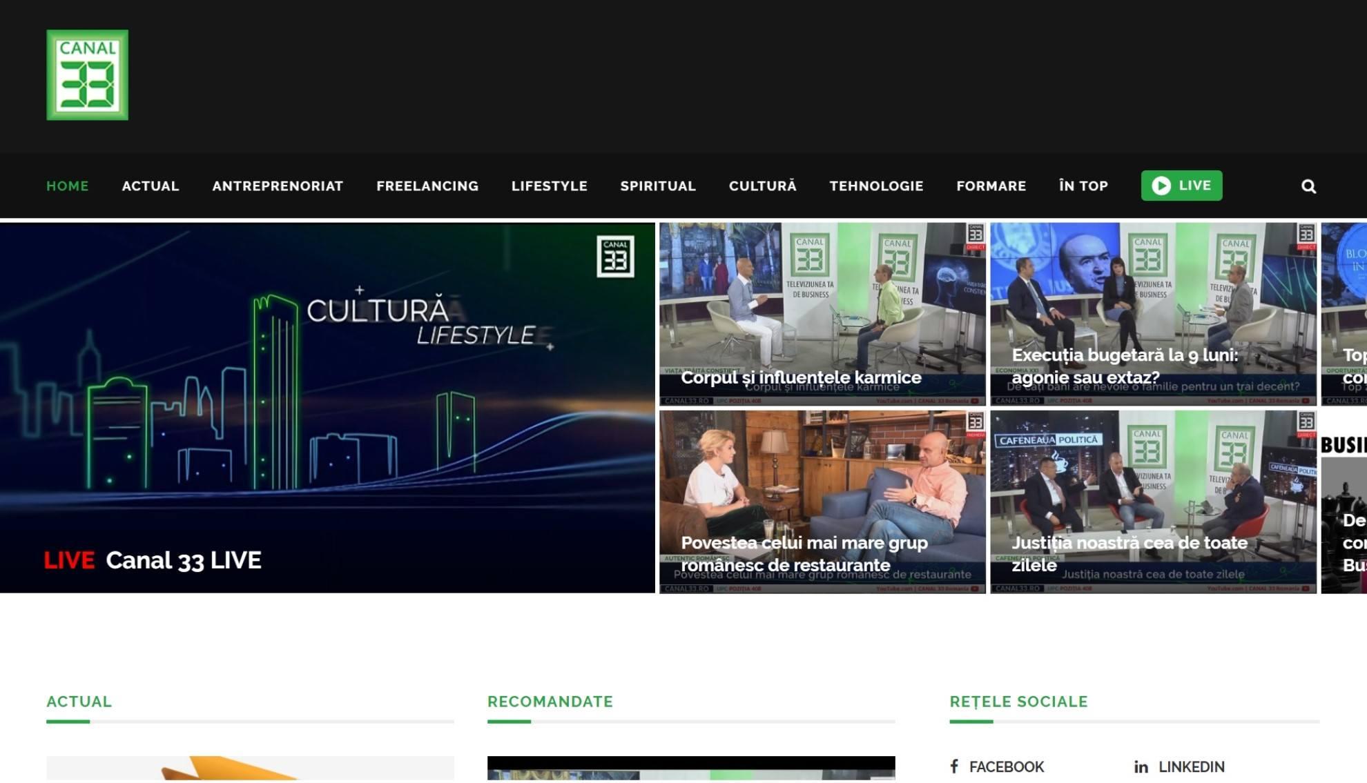 Canal33 - Televiziunea care te inspiră
