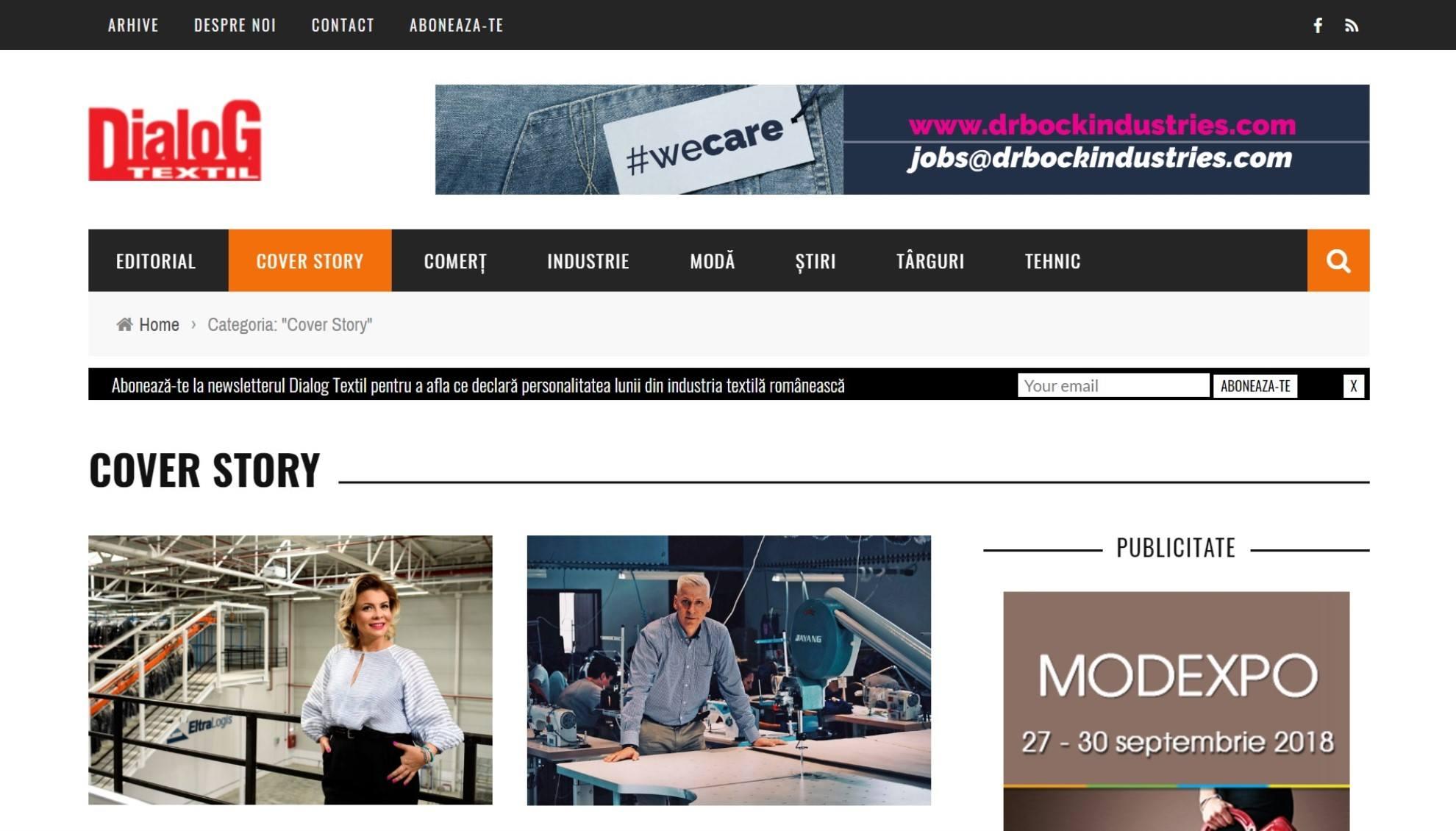 Dialog Textil - Revista industriei de textile și confecții din România - Dialog Textil
