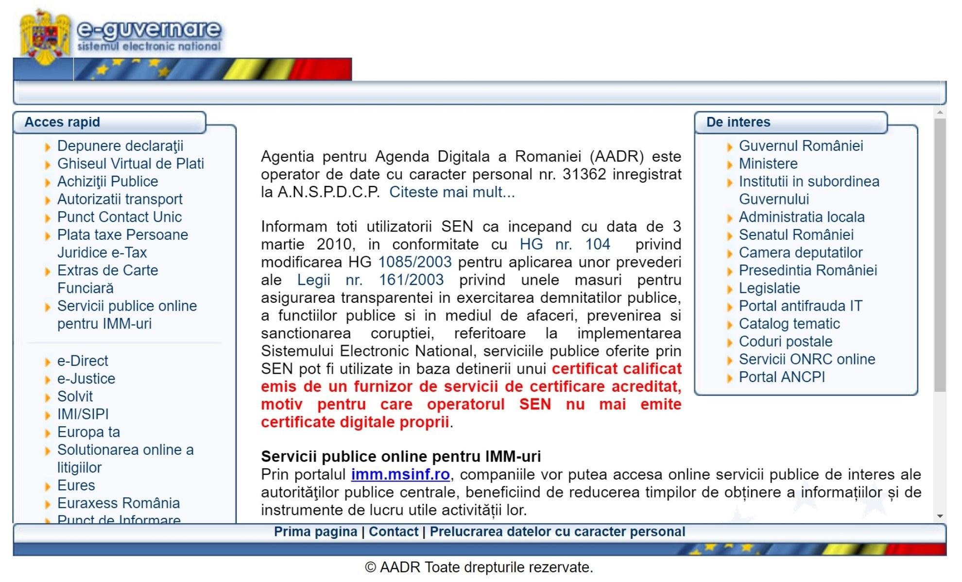 e-guvernare sistemul electronic national