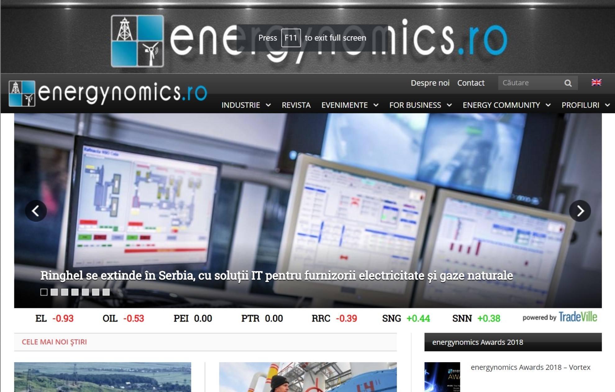 energynomics.ro - portalul B2B al energeticii româneşti