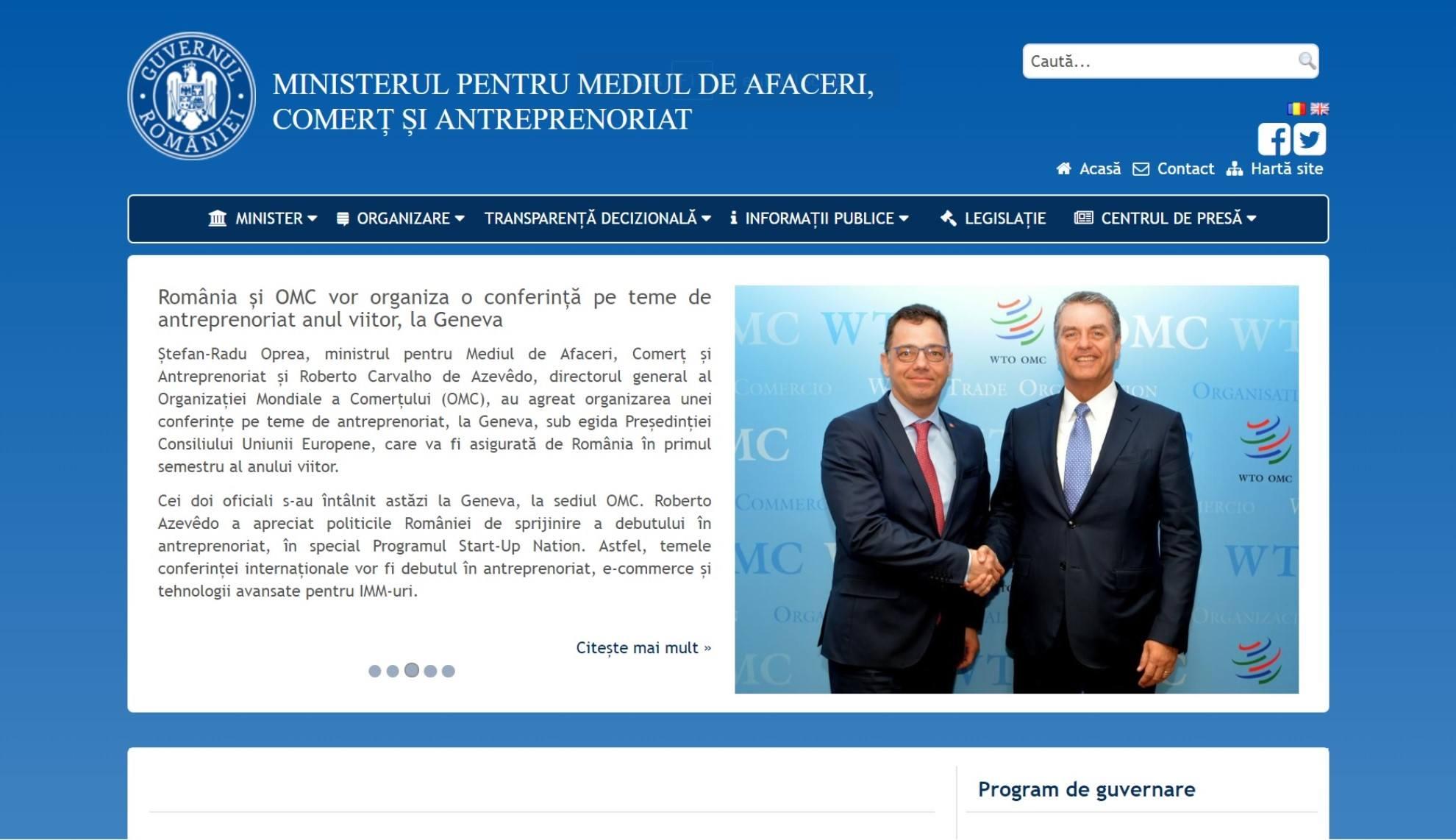 IMM - Ministerul pentru Mediul de Afaceri, Comert si Antreprenoriat