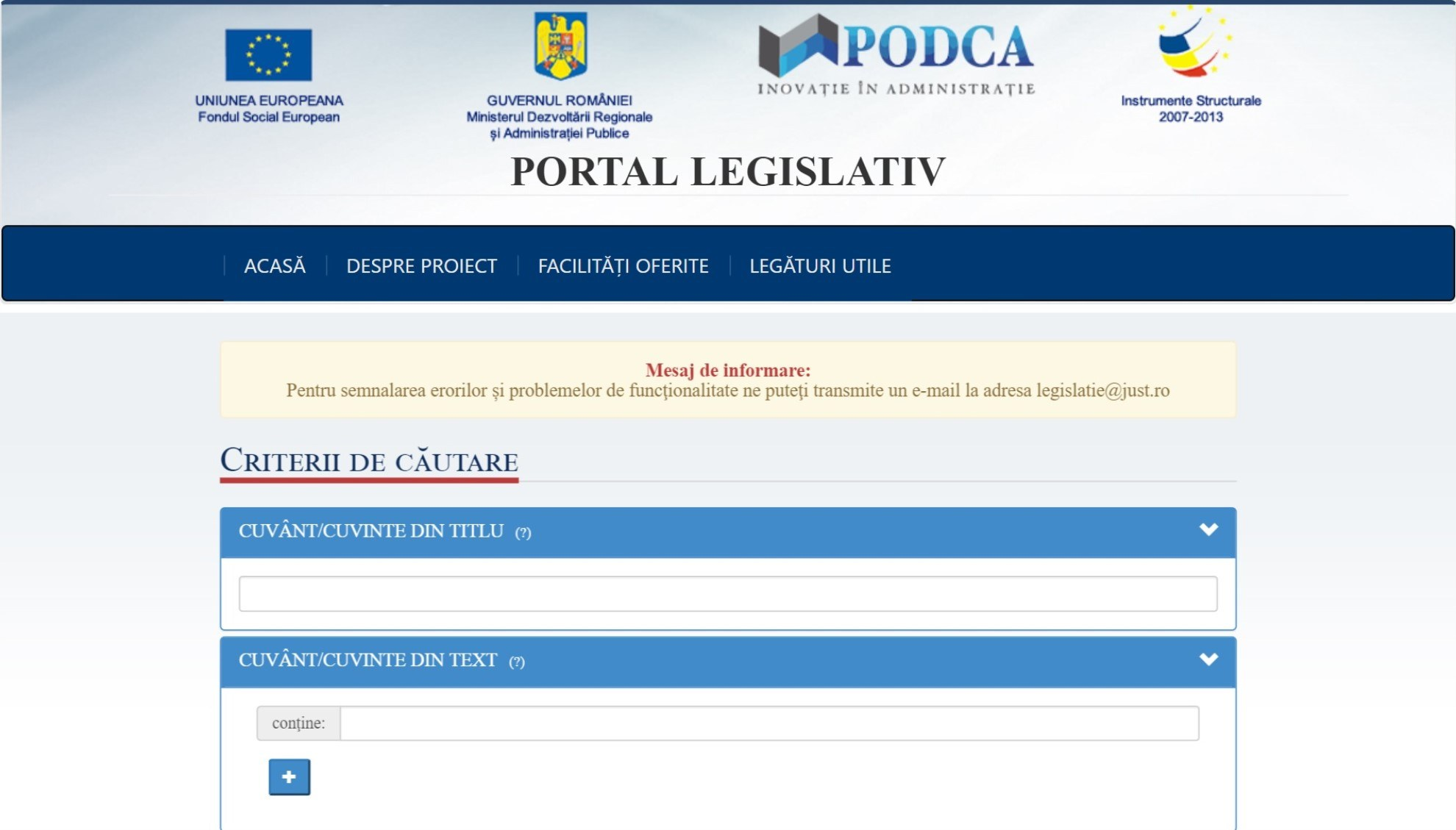 Just.ro Portalul Legislativ