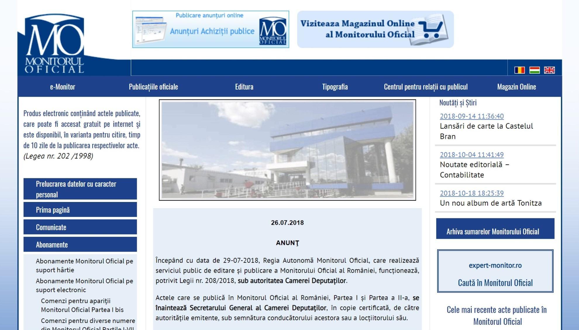 Monitorul Oficial - MonitorulOficial.ro