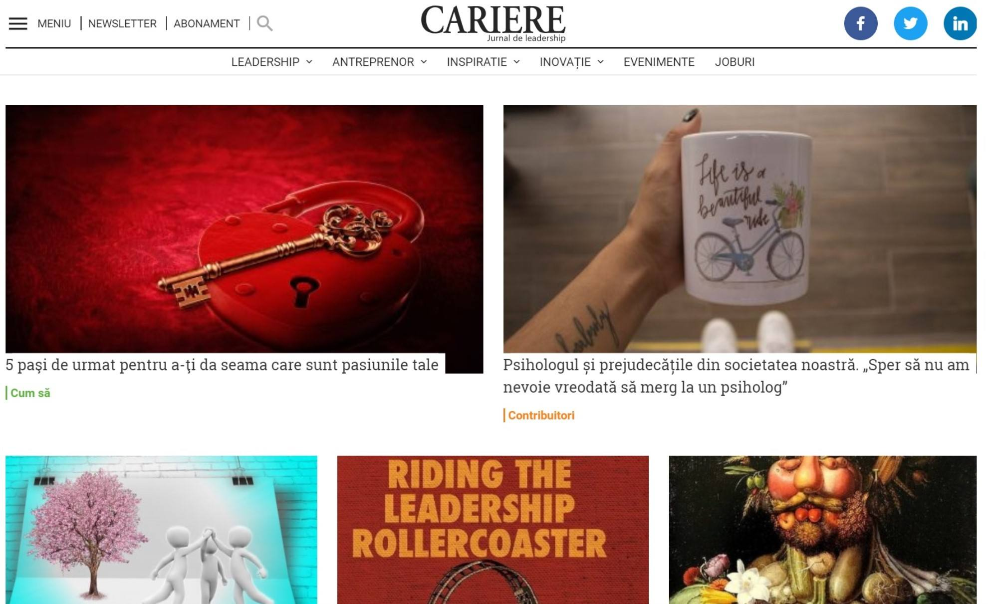 Cariere | Jurnal de leadership