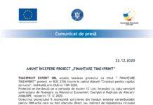 "ANUNȚ ÎNCEPERE PROIECT ""FINANȚARE TIME4PRINT"""