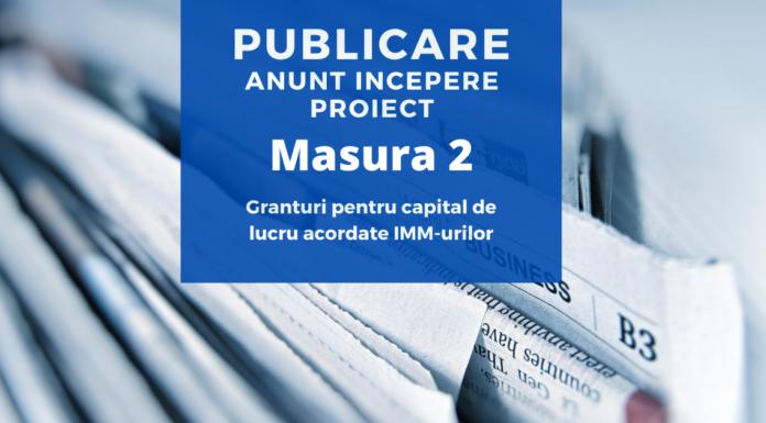 Publicare anunt incepere proiect granturi capital de lucru