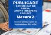 Publicare comunicat pentru incepere proiect Masura 2 Granturi pentru capital de lucru acordate IMM-urilor
