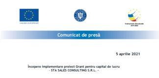 Comunicat de presa incepere proiect Sta Sales